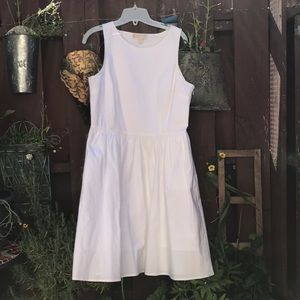 Michael Kors White fit and glare dress